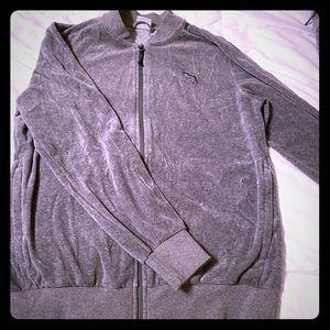 Men's puma velour track jacket size medium